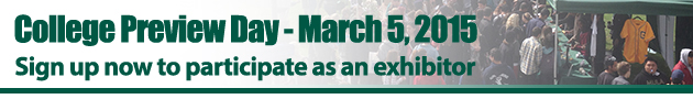 College Preview Day March 5, 2015. Sign up now to participate as an exhibitor