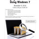 Managing Files & Folders Using Windows 7 Workshop