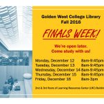 GWC Library Fall 2016 Finals Week Hours