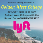 Need a ride to/from GWC? 20% Discount from LYFT