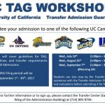 UC TAG Workshop for F'18 Admission