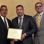 Dean Whiteside received an award last week at the LAOC Regional Consortia