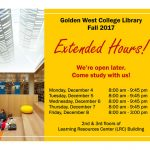 Library Extended Hours (December 4-8)