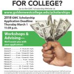 Golden West College Scholarships NOW AVAILABLE!