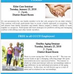 Elder Care & Healthy Aging Seminars – January 23, 2018