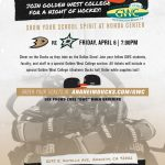 Buy Your Tickets Today! GWC at the Anaheim Ducks – April 7