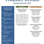 Spring 2018 Transfer Events