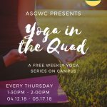 ASGWC Spring Weekly Yoga Series