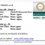 Bookstore Limited Hours During Summer