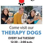 Therapy Dogs On Campus – Every 3rd Tuesday