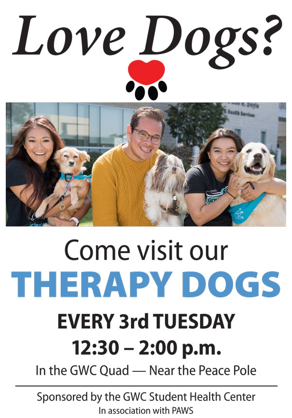 Therapy Dogs every 3rd Tuesday
