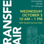 Transfer Fair on Wednesday, October 3rd from 10:00 am to 1:00 pm