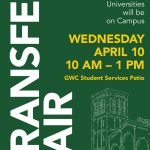 """Transfer Fair"" Wednesday, April 10th from 10:00am-1:00pm"