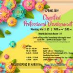 Classified Professional Development Day – March 25
