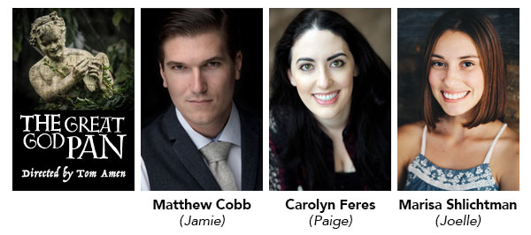 Nominees for the Irene Ryan Acting Scholarships are Matthew Cobb, who played Jamie, Carolyn Feres, who played Paige, and Marisa Shlichtman, who played Joelle